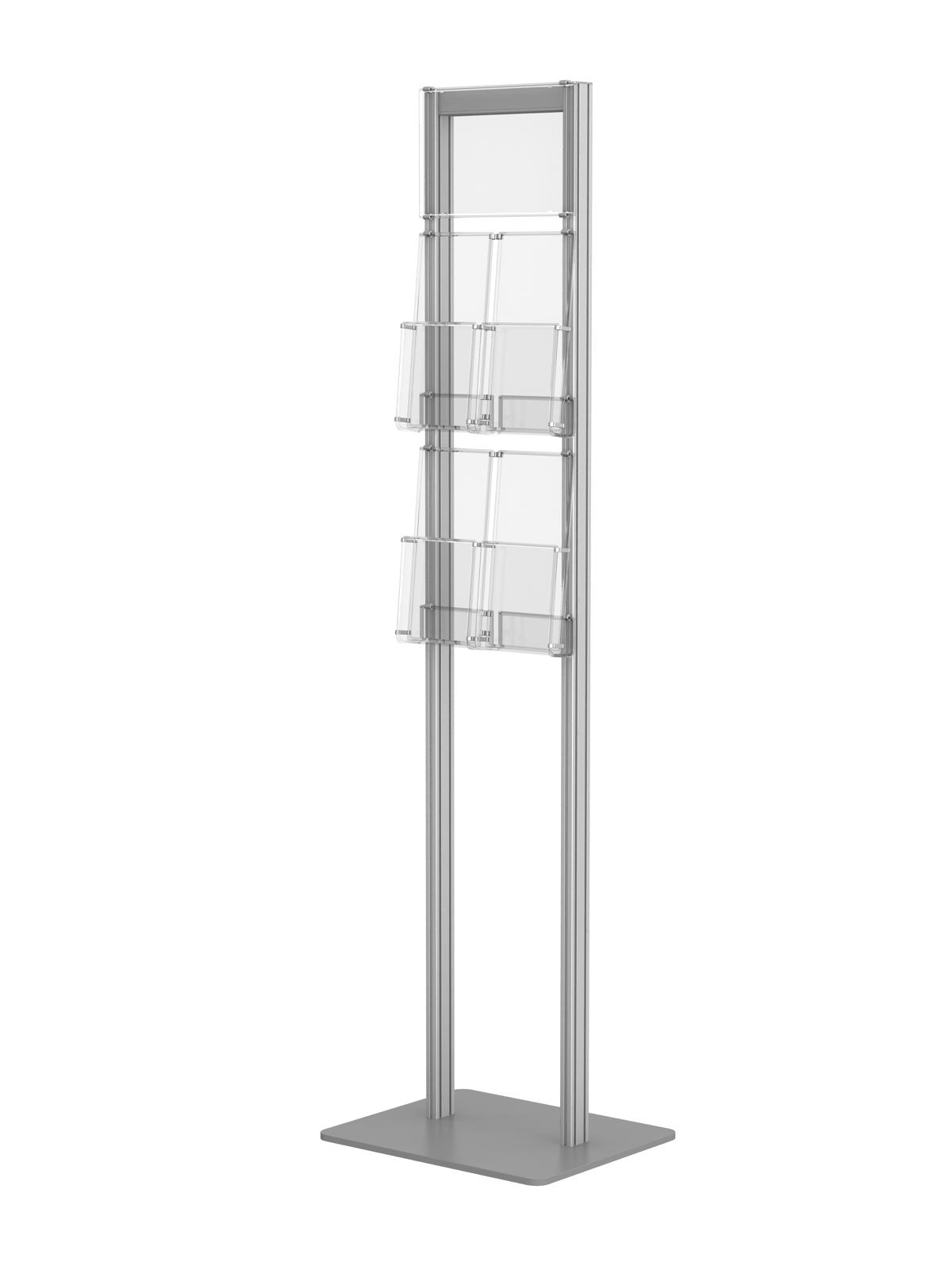 Ogromny stojak na ulotki prezenter ekspozytor ulotek 4x DL i 1x A5 ____Art 360 TT08