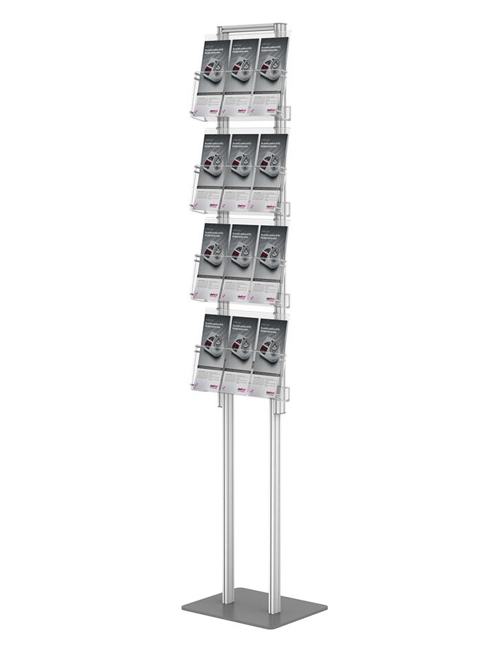 Tylko na zewnątrz składany stojak na ulotki + 4 kieszenie A4 poziomo ( ulotki A4 A5 ZJ71